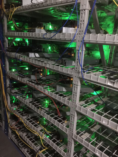 Antminer S9 at Eobot cloud mining farm