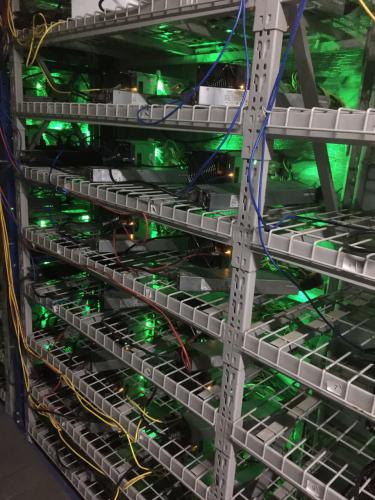 Antminer S9 at Eobot cloud mining farm