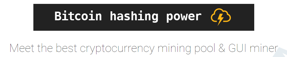 Minergare bitcoin hashing power